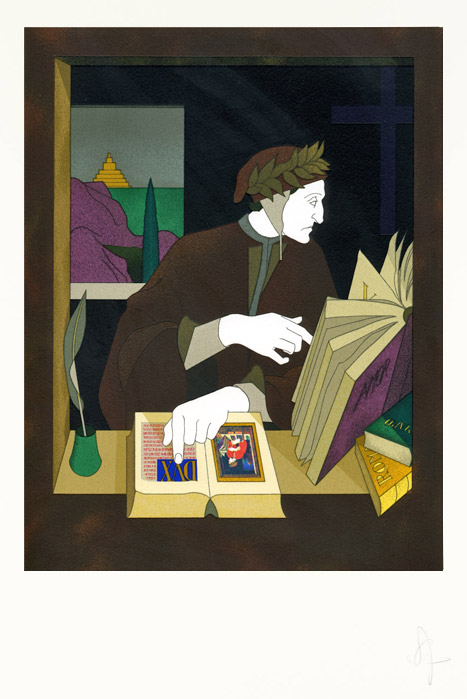 Frontispiece : Dante in his Study