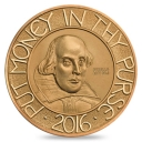 The Shakespeare 2016 Five-Ounce Gold Proof Coin