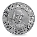 The Shakespeare 2016 Five-Ounce Silver Proof Coin